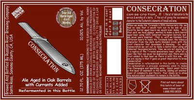 Consecration Label