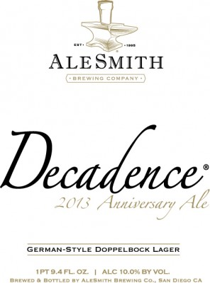 AleSmith Decadence 2013