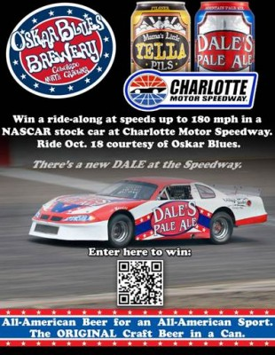 Win a ride along in a nascar stock car at charlotte motor for Nascar ride along charlotte motor speedway