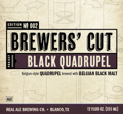 Real Ale Brewers Cut Black Quadrupel